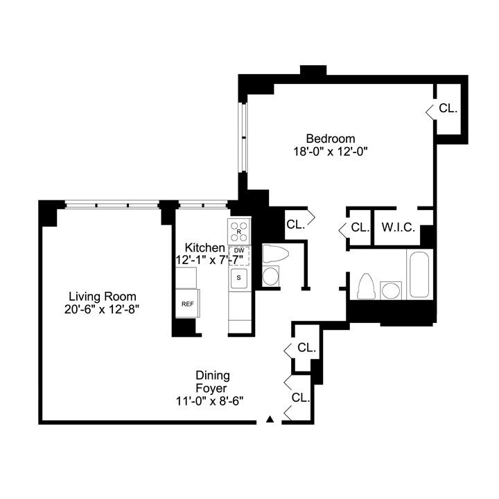 Floorplan of 2 Bedrooms  2.5 Bath  Apartment