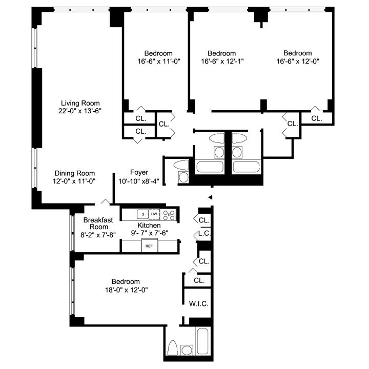 Floorplans. The Bristol   Luxury Manhattan Apartments for Rent