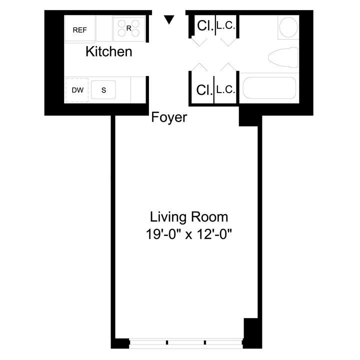 Floorplan of Studio Apartment