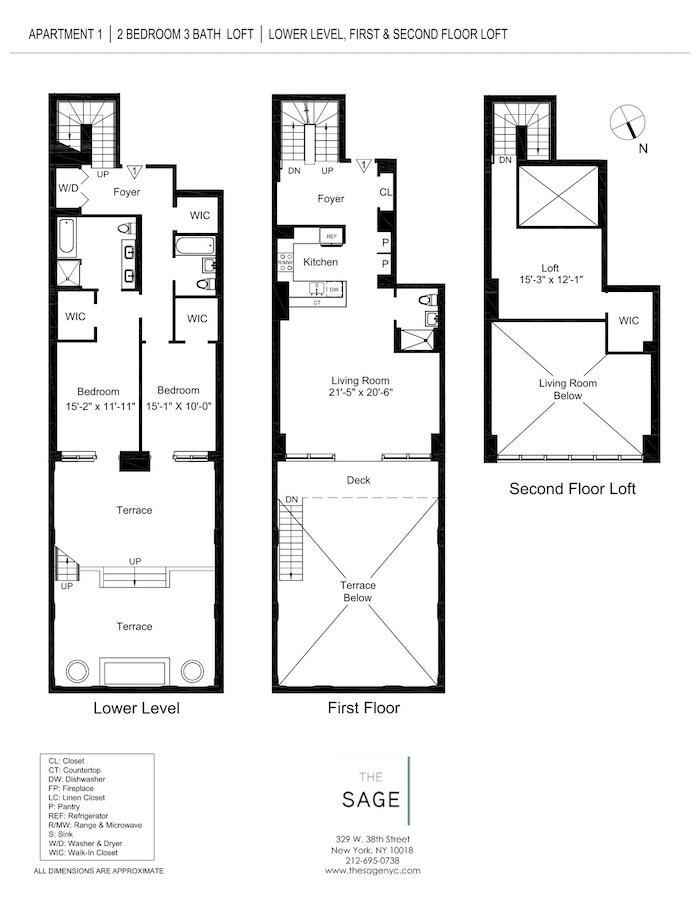 The sage luxury manhattan apartments for rent for Sage floor plan